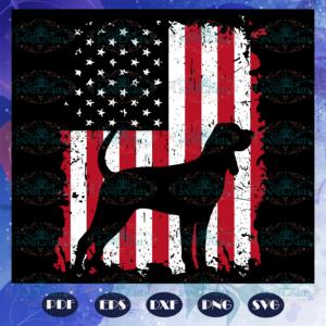 America flag dog july svg BD13072020A47
