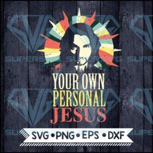 Your own personal jesus svg cricut file vintage
