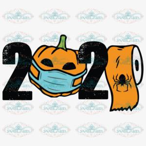 2020 Pumpkin Wear Mask Svg, Halloween Svg, Pumpkin Svg, Pumpkin Face