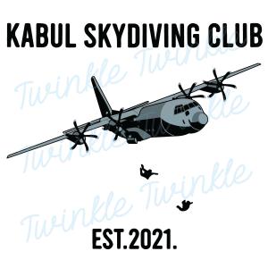 Kabul Skydiving Club Est 2021 SVG