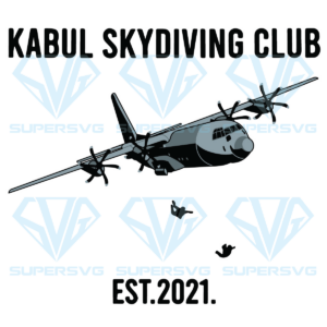 Kabul skydiving club est 2021 svg, trending svg cut file