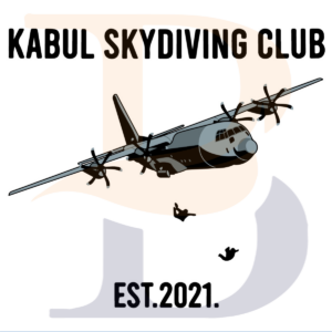 Kabul Skydiving Club Est 2021 SVG TB210821DT01