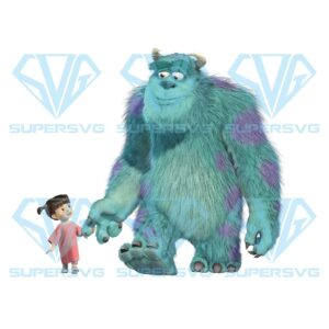 Monters inc png, monster university characters png, mike sully monters inc png, silhouette files for cricut svg dxf eps png instant download