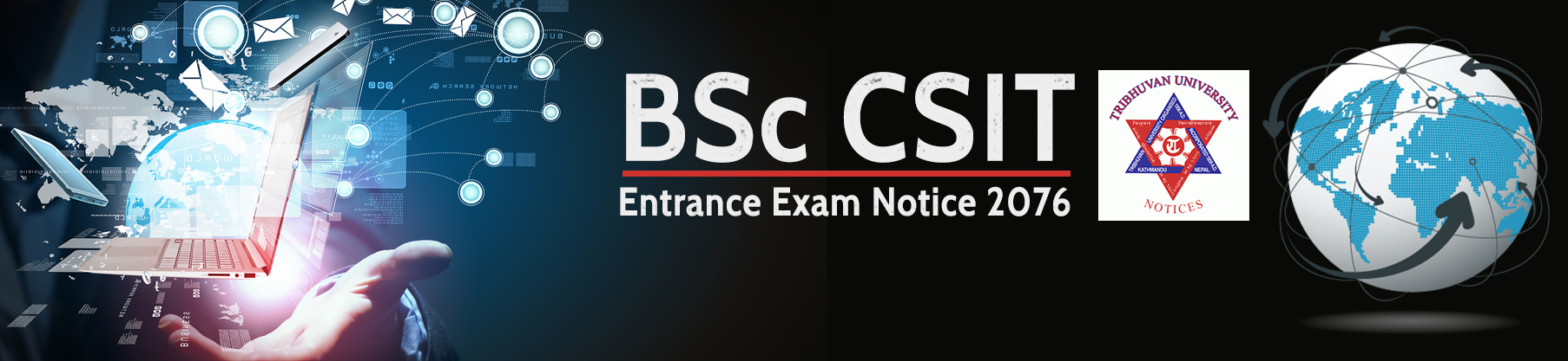 BSc CSIT Entrance Exam Notice 2076 from Tribhuvan University