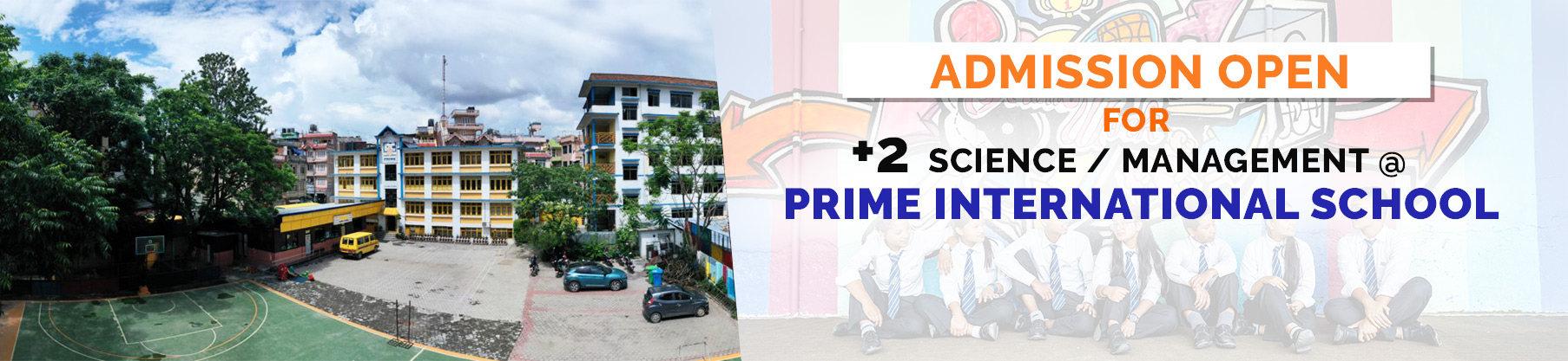 Admissions open for +2 Science and Management at Prime International School