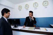 Front desk with importance of time