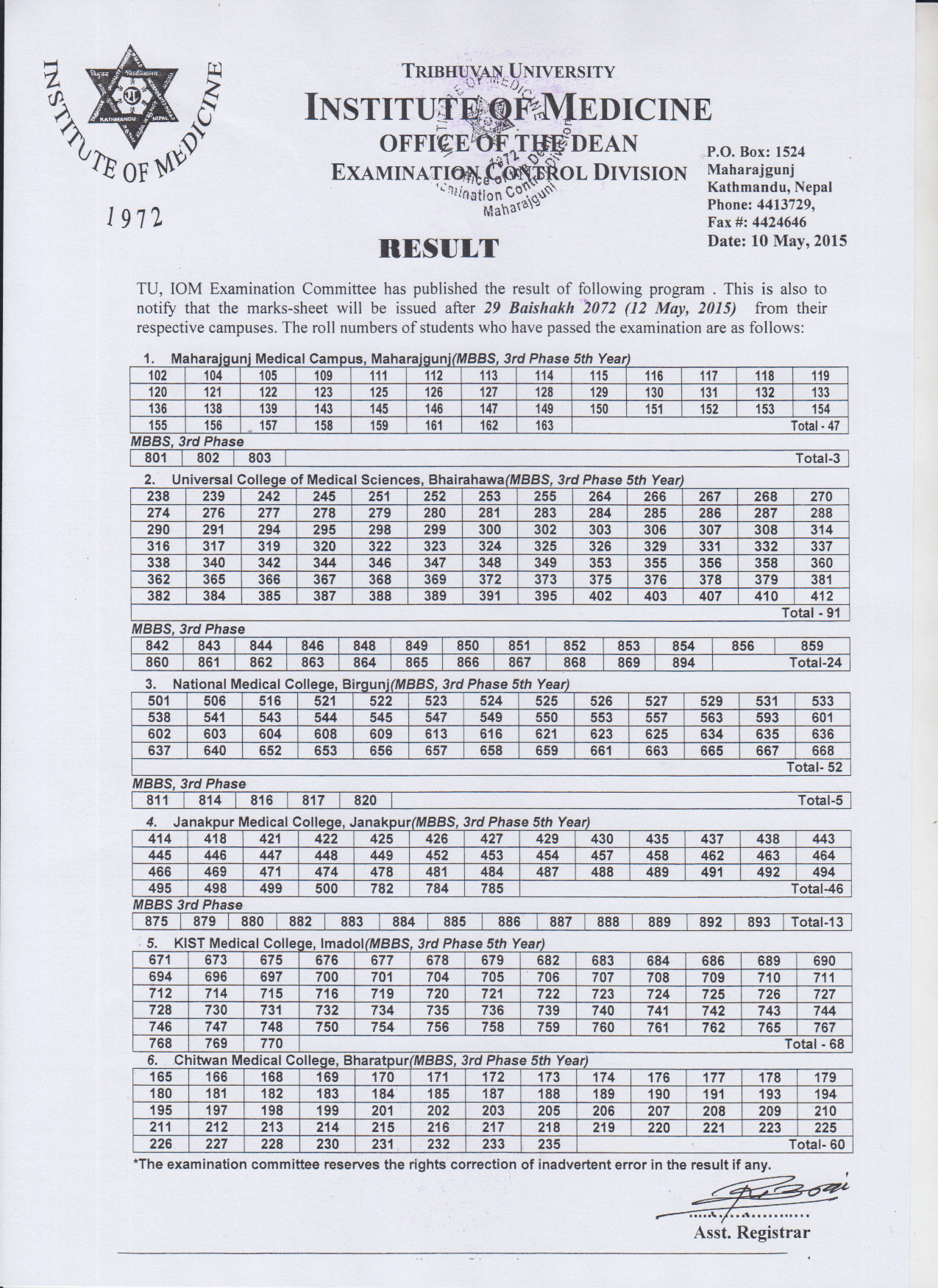 Result of MBBS 3rd Phase 5th year & MBBS 3rd Phase Final Year.jpg