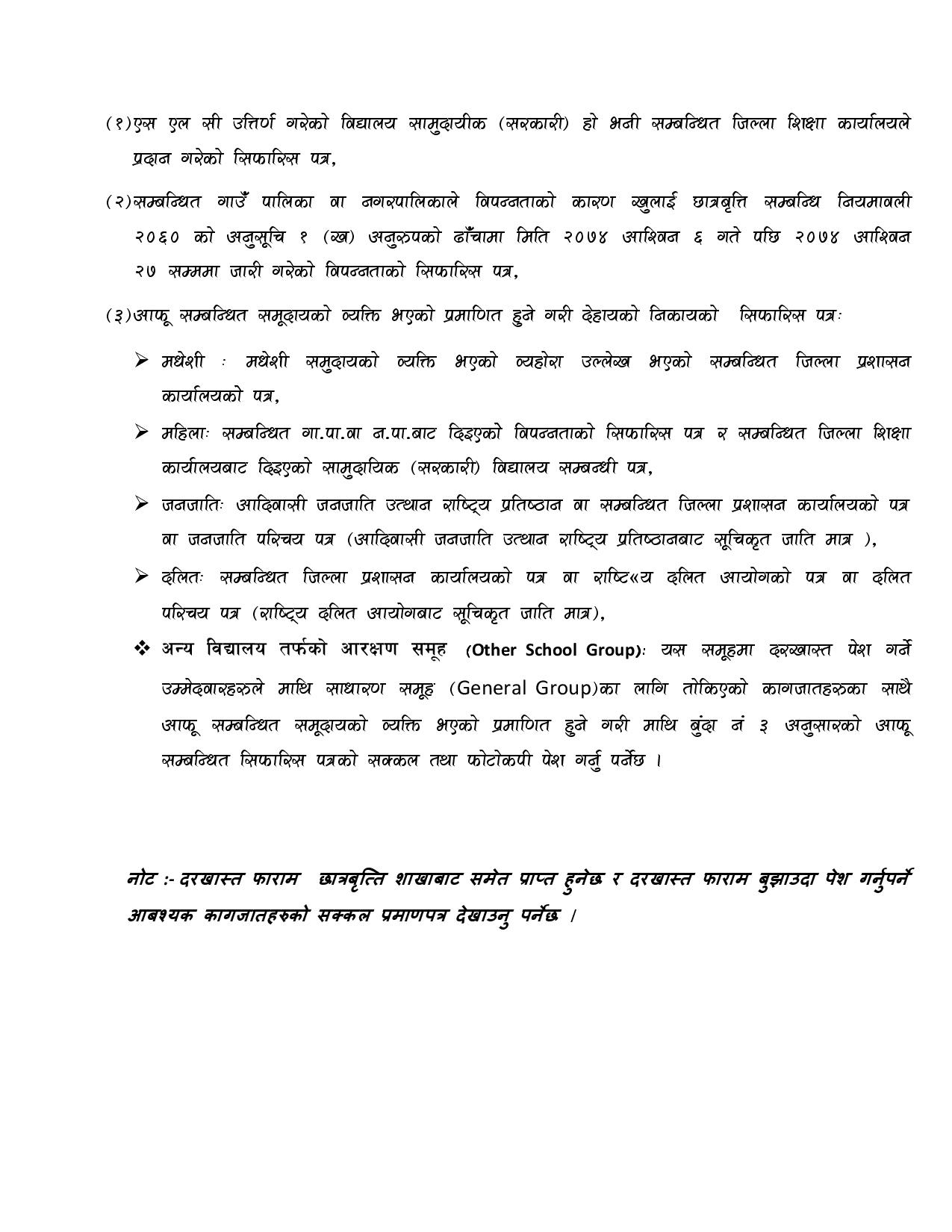 Nepal Government Scholarship For Study In D Pharmacy Under Ptap Program