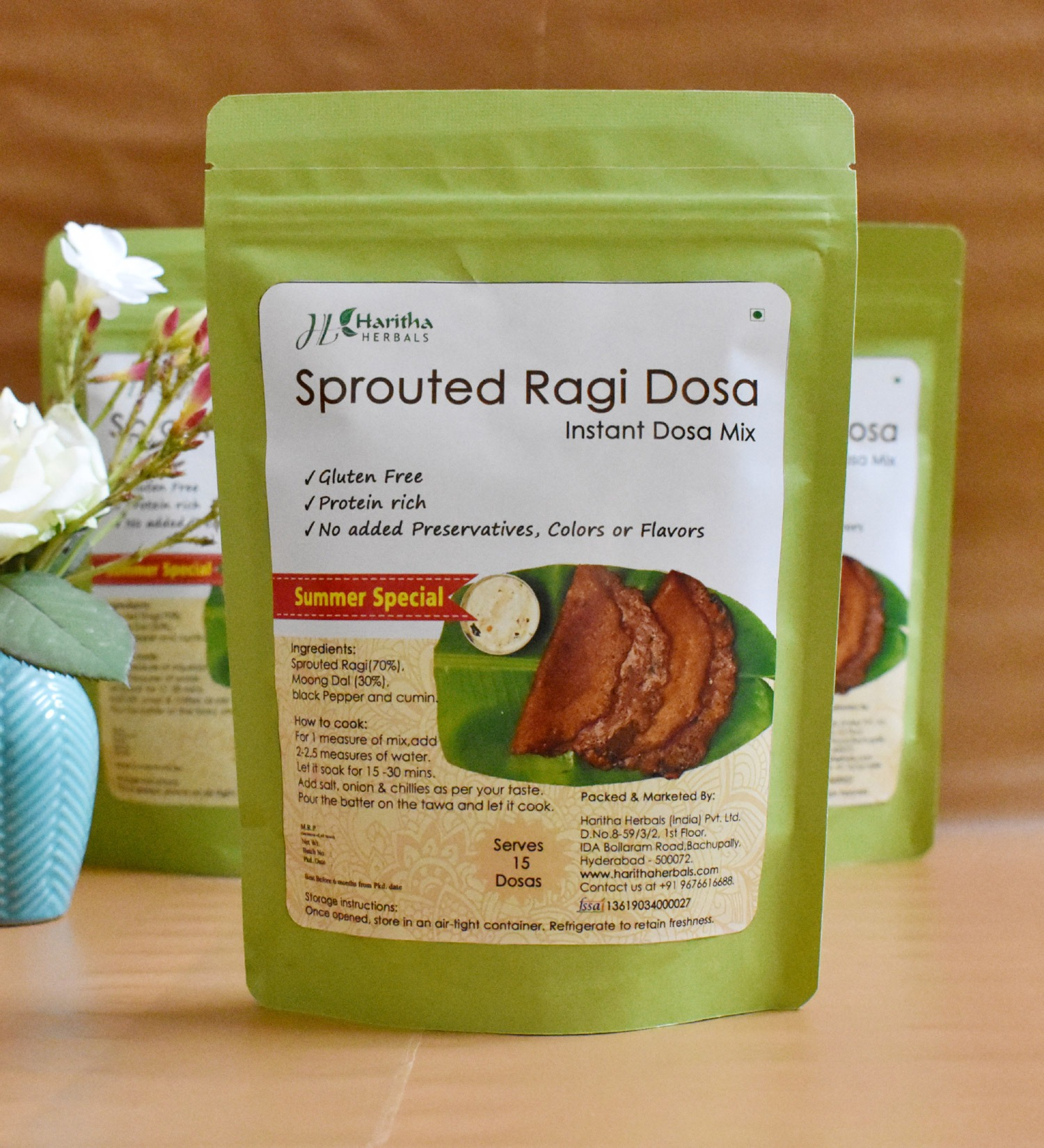 Sprouted Ragi Dosa(set of 2)