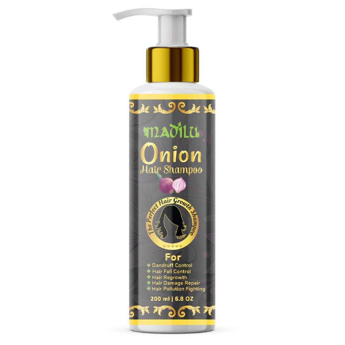 ONION  SHAMPOO WITH 10  essential herbs
