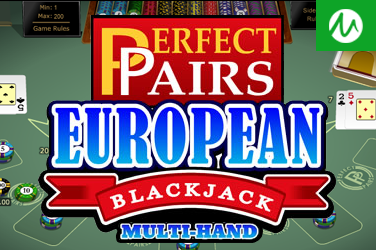 MULTI HAND PERFECT PAIRS EUROPEAN BLACKJACK GOLD