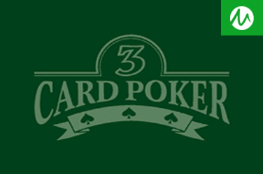 SINGLE HAND 3 CARD POKER