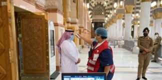 Prophet's Mosque reopened by 40 percent of capacity