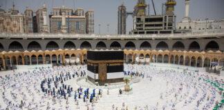 """Haji1441 – Jamaah terapkan """"social distancing"""" saat tawaf"""