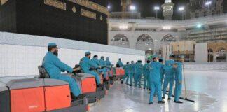 Haji1441 - Hampir 2.400 liter pembersih digunakan tiap hari untuk bersihkan Masjidil Haram