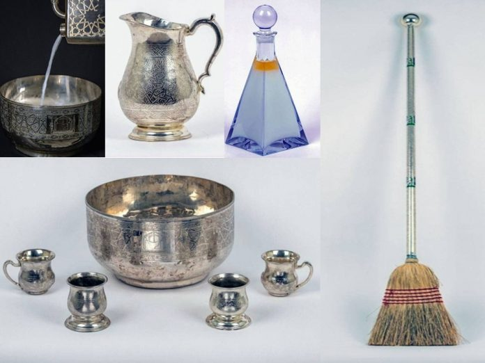 Tools for washing Kaaba made of copper with best perfume