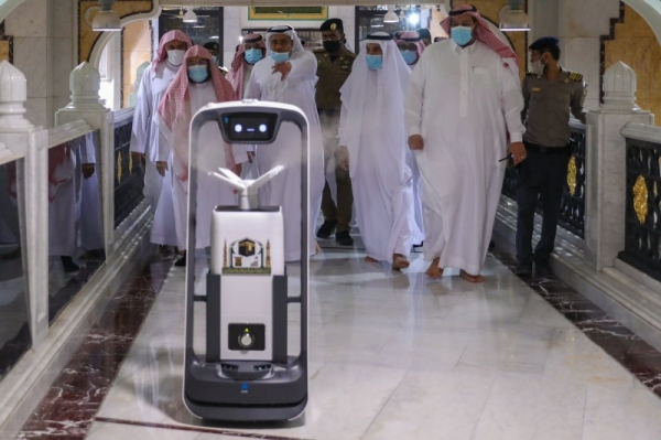 Smart robots help curb virus spread in the Grand Mosque