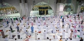 The Grand Mosque opened for 600,000 worshipers, 250,000 umrah pilgrims