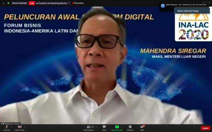Kemlu RI luncurkan platform digital pebisnis Indonesia-Amerika Latin-Karibia