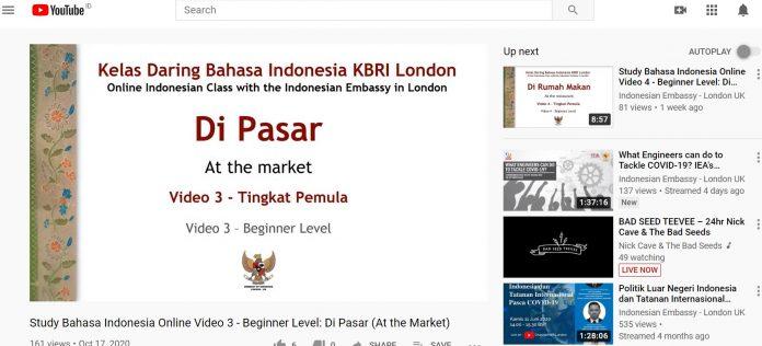 KBRI London buka kelas daring Bahasa Indonesia untuk penutur asing
