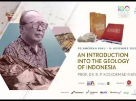 Indonesia's geological figure launches referral book on geology of Indonesia