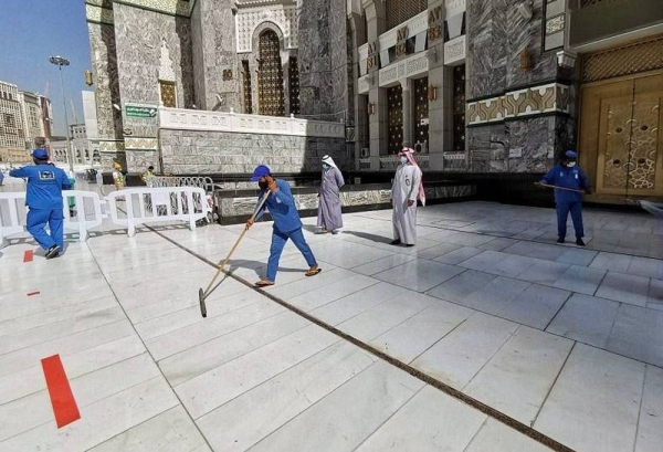 Grand Mosque in Makkah sterilized in 35 minutes