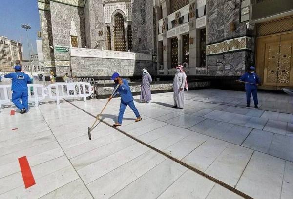 Seluruh area Masjidil Haram disterilkan dalam 35 menit
