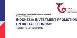 Indonesia tawarkan Thailand peluang investasi ekonomi digital