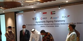 Indonesia-UAE sign agreement on aluminium refining technology