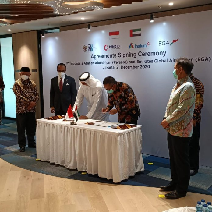 Indonesia-UAE sign agreement on aluminium refining technology
