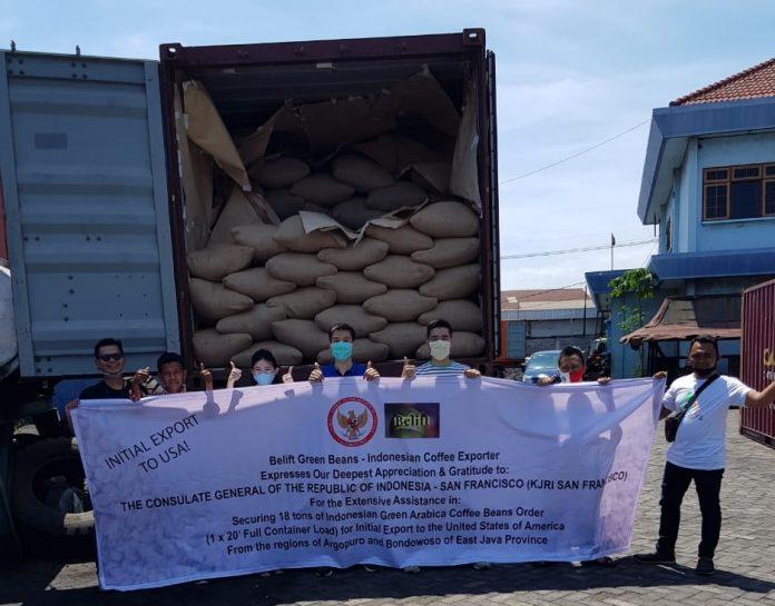 18 ton kopi arabika Jawa Timur tiba di San Francisco AS