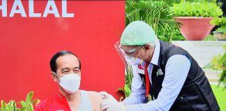 COVID-19 – Presiden Jokowi terima suntikan vaksin dosis kedua