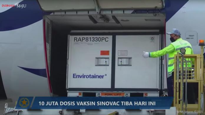 COVID-19 – 10 juta dosis bahan baku vaksin Sinovac tiba di Indonesia