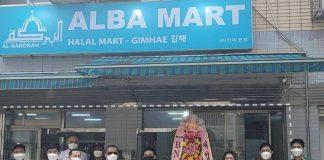 Toko ritel Indonesia Alba Mart diresmikan di Gimhae, Korse