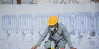 Hajj1442 – 5,000 workers sterilize Makkah's Grand Mosque ten times daily