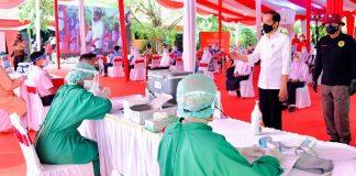 COVID-19 – 56,04 juta warga Indonesia telah mendapat vaksin dosis pertama