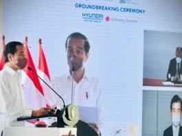 Pembangunan pabrik baterai kendaraan listrik pertama di Indonesia dimulai