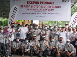 Indonesia exports electric motorcycles to Senegal
