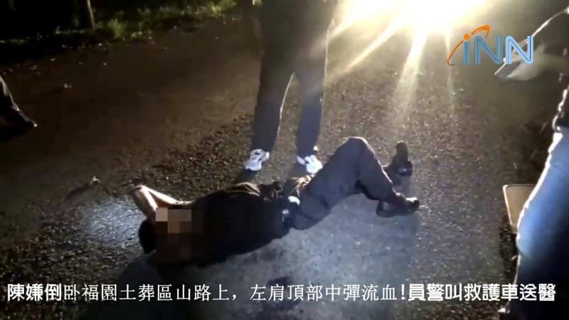 持槍男拒捕逃逸 宜警開槍擊中左肩逮捕!