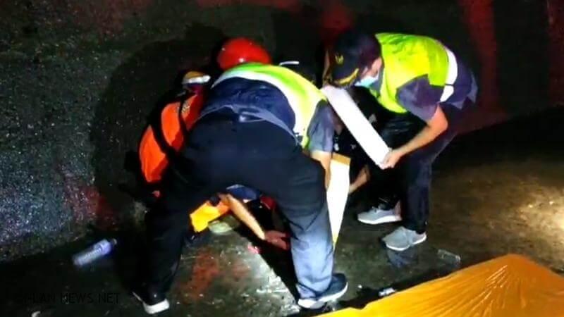 頭城鎮梗枋漁港北堤 釣客跌落內堤右腳踝骨折救起!