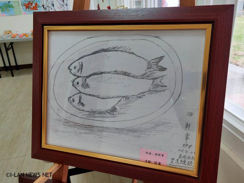 高齡100歲學員游新章阿公最珍愛的學習作品