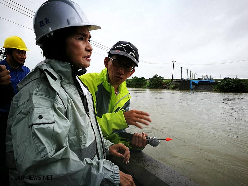 米塔颱風林姿妙視察縣內防颱工作!