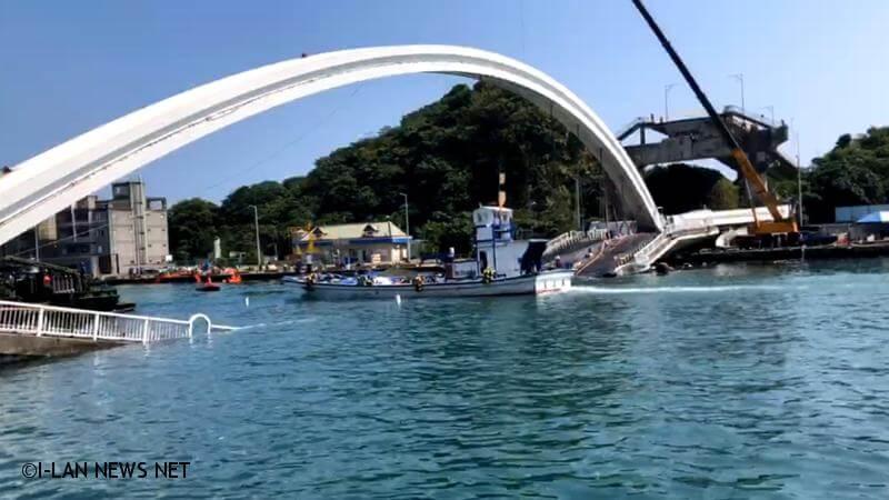 南方澳斷橋 48小時內航道清出來了!
