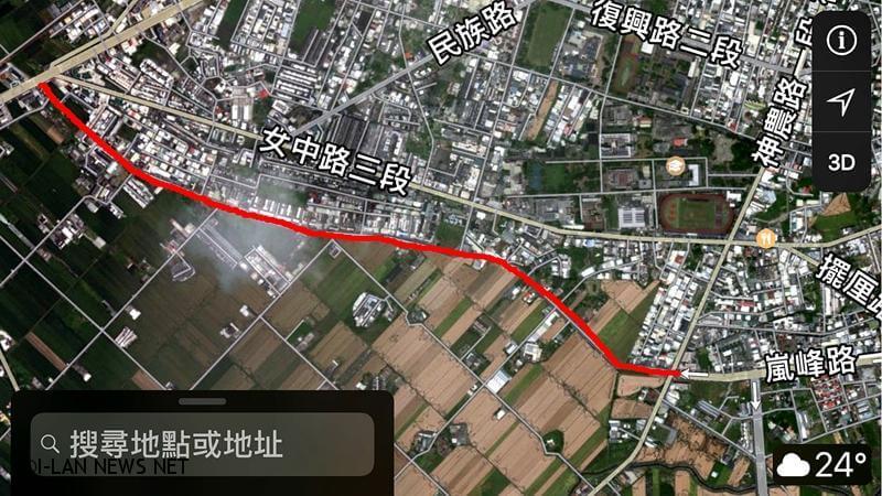 政委吳澤成再協助縣府拓寬台7線延伸至員山鄉工程!