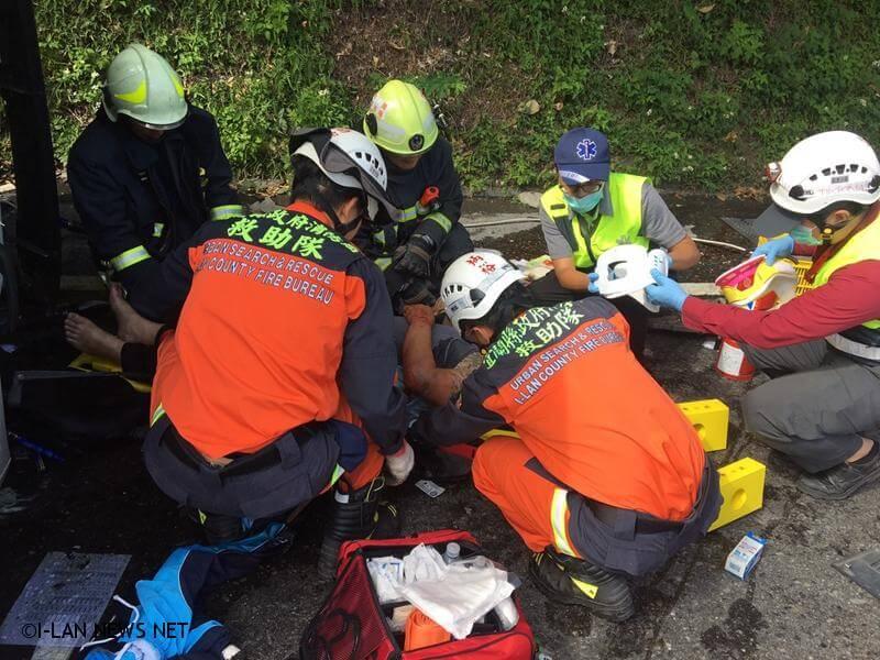 蘇花114里處連結車與自小客車車禍3人受傷送醫!