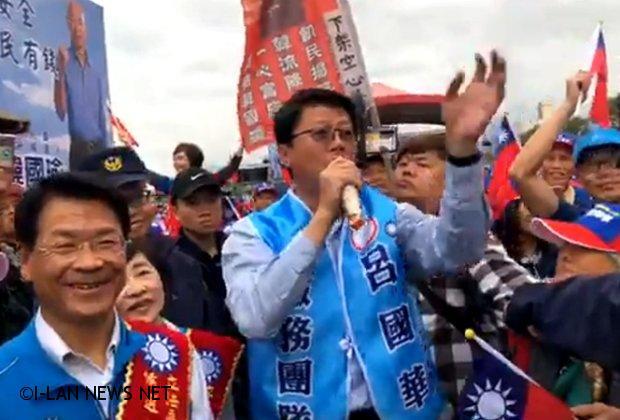 韓國瑜未現身民眾有些失望 龍介仙帶呂國華走進民眾現高潮!