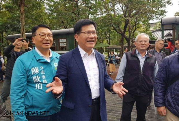 林佳龍勘察太平山森林鐵路沿途舊站