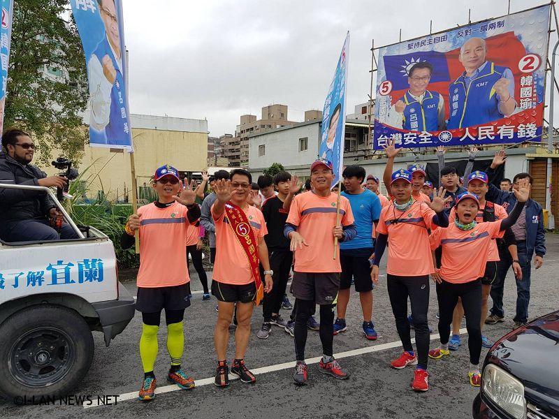 另類選舉呂國華以馬拉松路跑方式向選民拜票