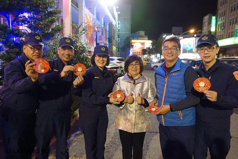 吳秋齡率團慰問羅東民、警重要節日安全維護工作辛勞!