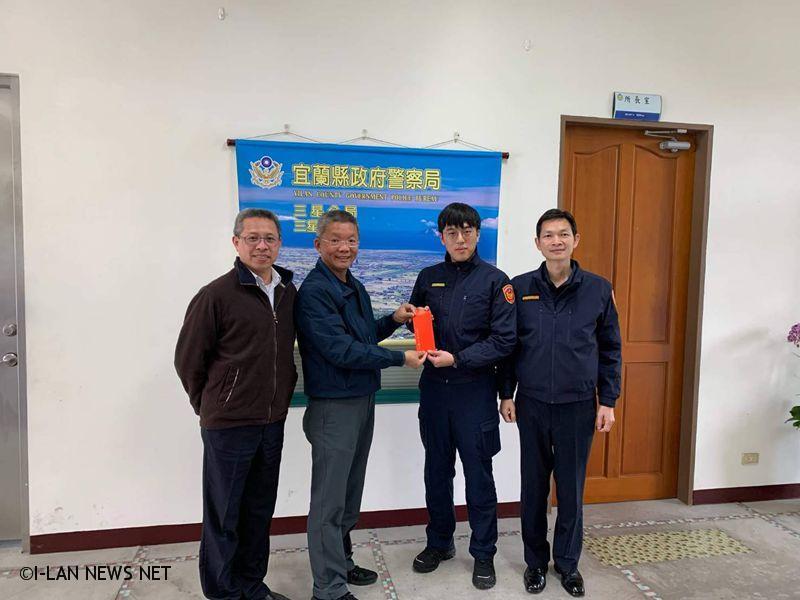 三星分局長林永勝感謝李鄉長為今年加強春節期間安全維護工作給予支持及關懷。